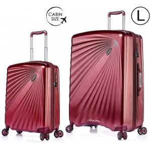 """Комплект чемоданов """"Verage"""" серия KINETIС, рубиново-красный, размеры (S/L)"""