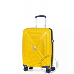 Чемодан L`case®️ желтый, ручная кладь S (37л)