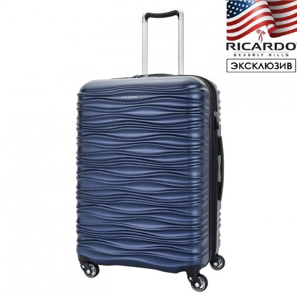Чемодан Ricardo Beverly Hills®️, серия Santa Cruz, синий металлик, средний M
