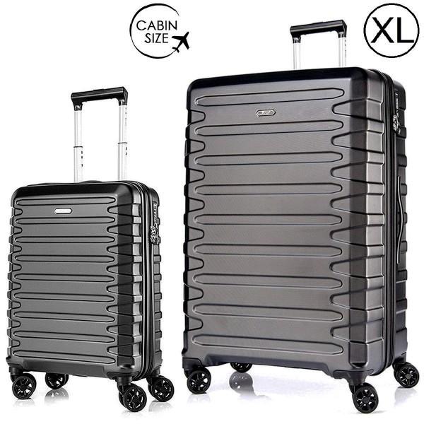 """Комплект чемоданов """"Verage"""" черный, размеры (S+/XL)"""
