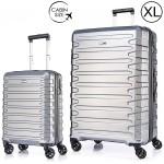 """Комплект чемоданов """"Verage"""" серебристый, размеры (S/XL)"""