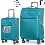"""Комплект чемоданов """"Verage"""" серия FLIGHT, великолепный зеленый, размеры S/L (33/95-114л)"""