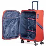 """Комплект чемоданов """"Verage"""" серия FLIGHT, цвет апельсина, размеры S/L (33/95-114л)"""
