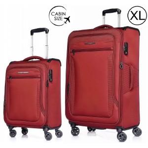 """Комплект чемоданов """"Verage"""" серия VEZDEHOD, бордовый, размеры (S/XL)"""