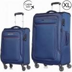 """Комплект чемоданов """"Verage"""" серия VEZDEHOD, кобальт, размеры (S/XL)"""