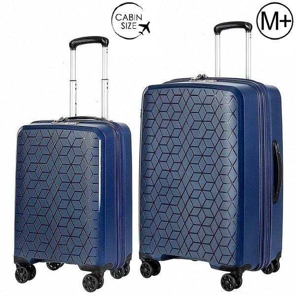 "Комплект чемоданов ""Verage"" коллекция DIAMOND темно-синий, размеры (S/M+)"