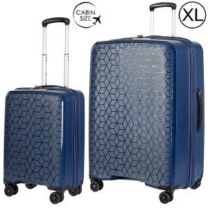 "Комплект чемоданов ""Verage"" коллекция DIAMOND темно-синий, размеры (S/XL)"