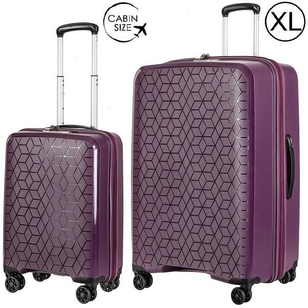 """Комплект чемоданов """"Verage"""" коллекция DIAMOND красный виноград, размеры (S/XL)"""