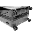 "Чемодан ""Verage"" коллекция MANHATTAN II, черный металлик, размер XL (117/140л)"