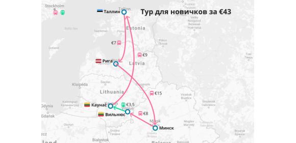 Вильнюс, Каунас, Рига и Таллин в одной поездке из Минска всего за 43 евро!