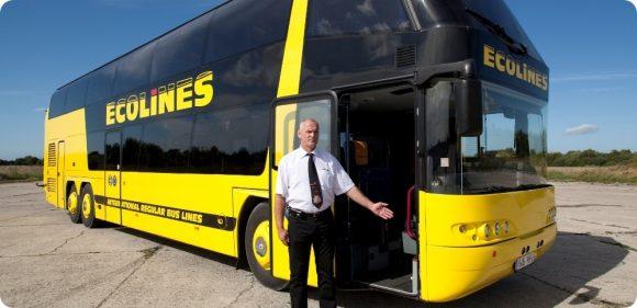 Автобусный перевозчик Ecolines начал быструю распродажу билетов из Варшавы и Люблина во Львов