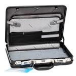 """Кейс пластиковый """"Diplomat"""" черный, узор под кожу, размер М, 45×34.5×10.5 см"""