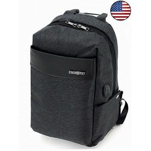 Рюкзак Eberhart®️ Legacy, темно-серый, USB, нейлон